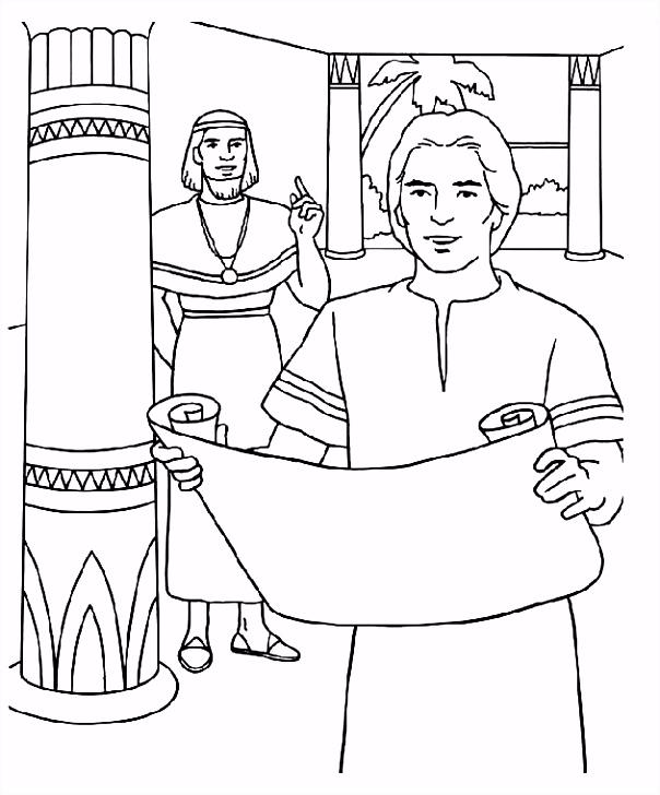 Jozef bij Potifar Kleurplaat Bibliai kifestő Pinterest