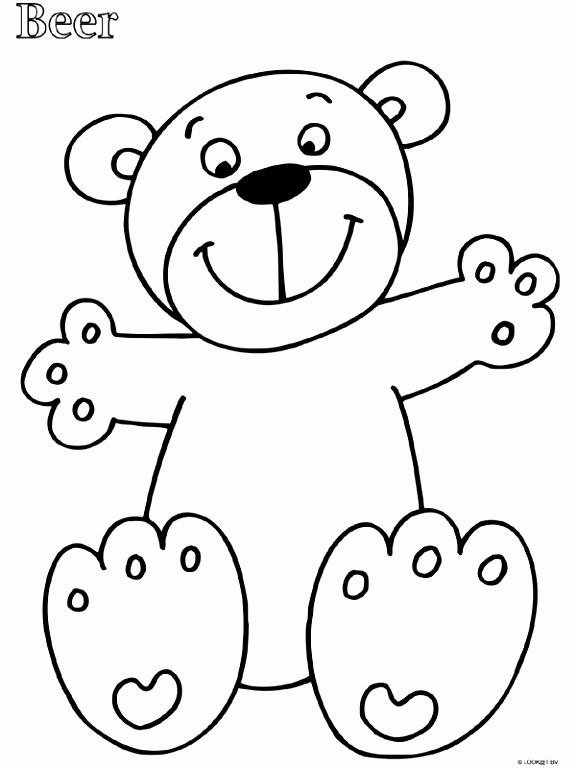 Afbeeldingsresultaat voor beer peuters kleurplaat