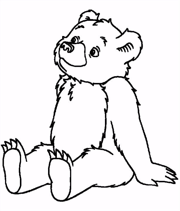 kleine beer — vind en print bliksemsnel een kleurplaat — ukko