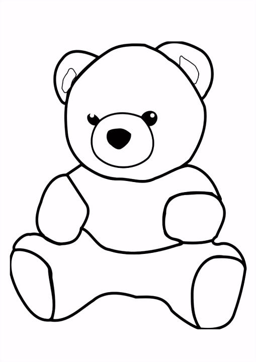 Kleurplaat beer Kinderen leren terwijl ze kleuren Afbeeldingen