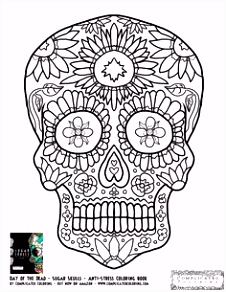 93 best Skull coloring images on Pinterest