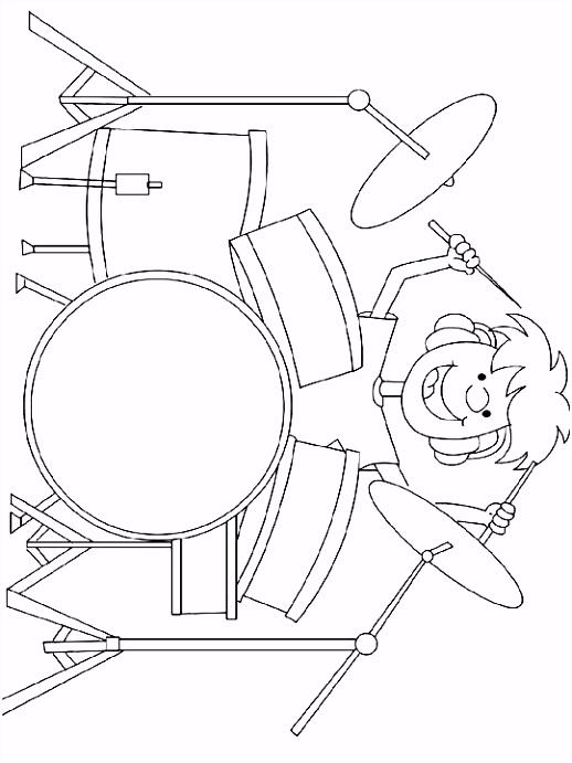 Kleurplaat Drummer kleurplaat beroep 4052