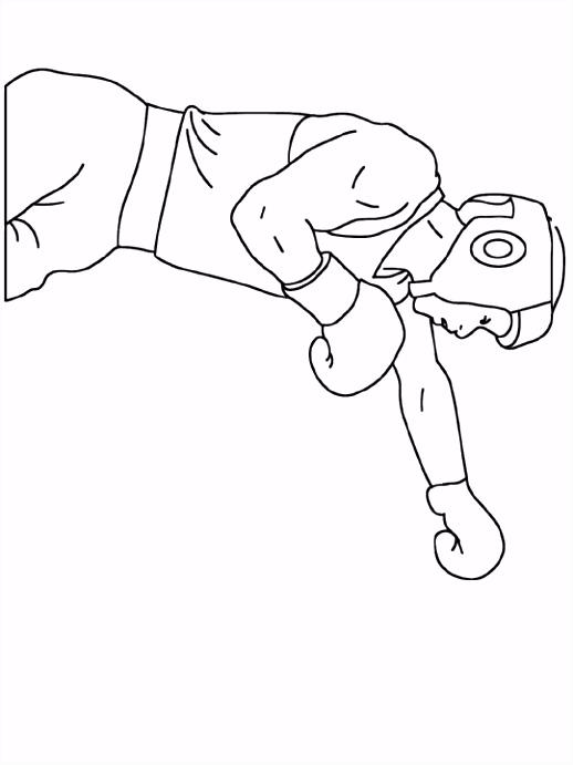 Kleurplaat Bokser kleurplaat beroep 4044