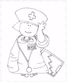 Kleurplaat Dokter Zuster ARCHIDEV