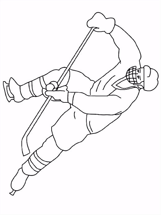 Kleurplaat Ijshockey kleurplaat beroep 4063