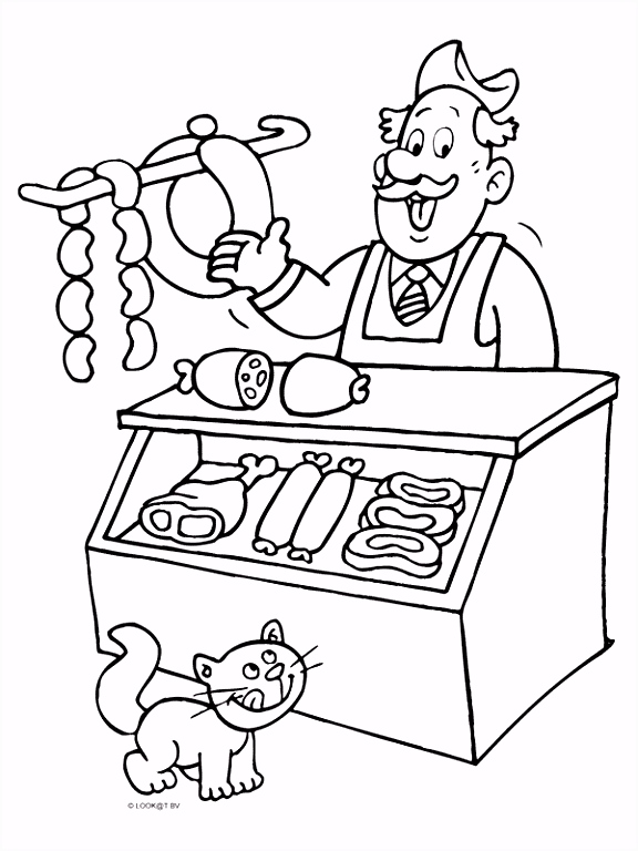 Kleurplaten Beroepen Postbode Kleurplaat Slager Verkoopt Vlees Kleurplaten J3iz41vas3 H4rxvutmm6