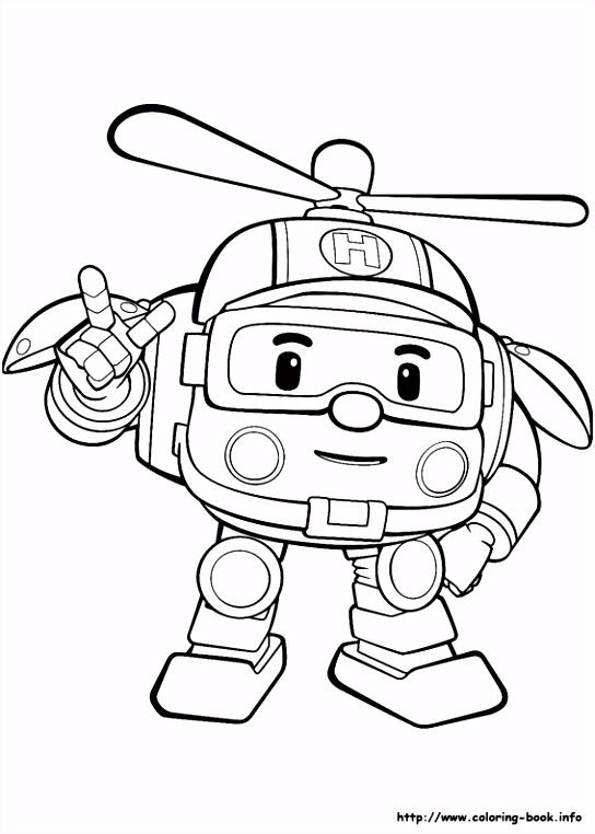 Robocar Poli coloring picture