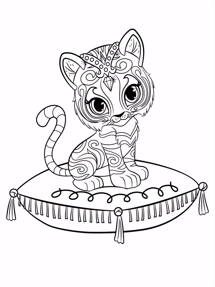 Shimmer and Shine Coloring Pages Coloring Girls