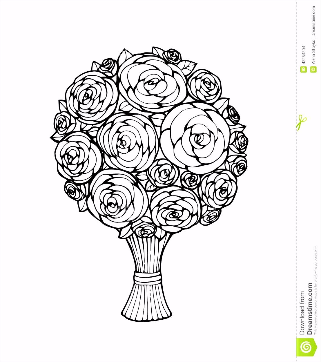 Bloemen boeket vector illustratie Illustratie bestaande uit viering