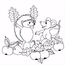 44 beste afbeeldingen van HERFST egels kleurplaten Autumn
