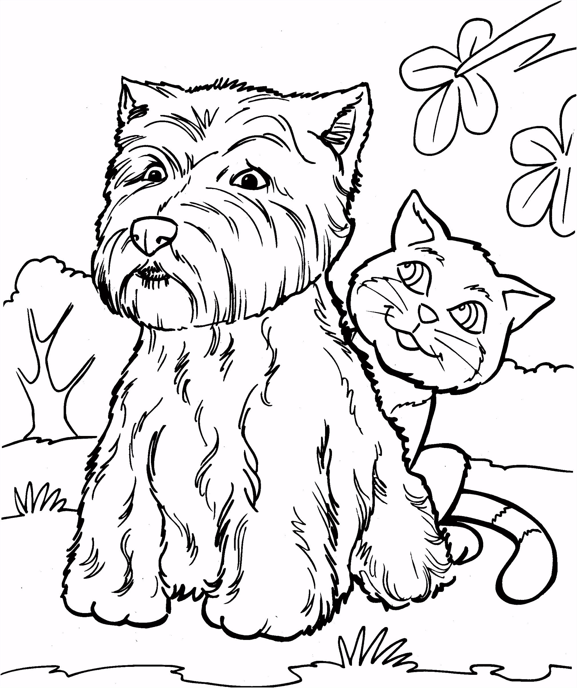 Nieuw Hond En Kat Kleurplaat