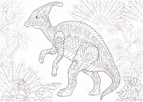 Hadrosaur Dinosaur Dino Coloring Pages Animal coloring book pages