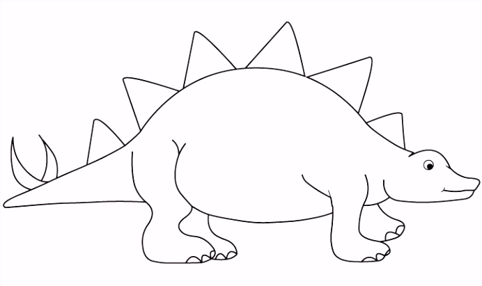 Kleurplaat dino Dinosaurs Pinterest