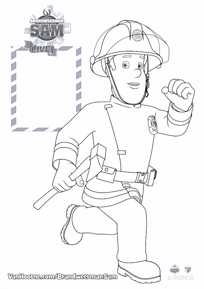 Brandweerman Kleurplaat Live Leuke Kleurplaten Brandweerman Sam