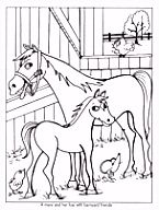 Kleurplaat paard 7 Caballos
