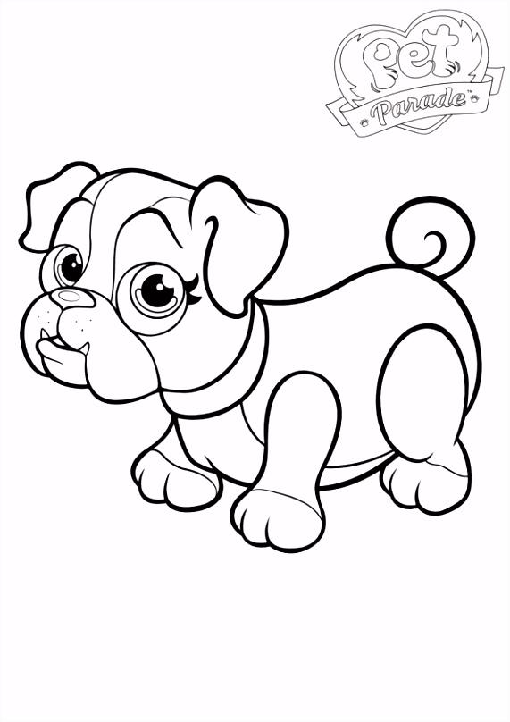 Kleurplaten Bulldog