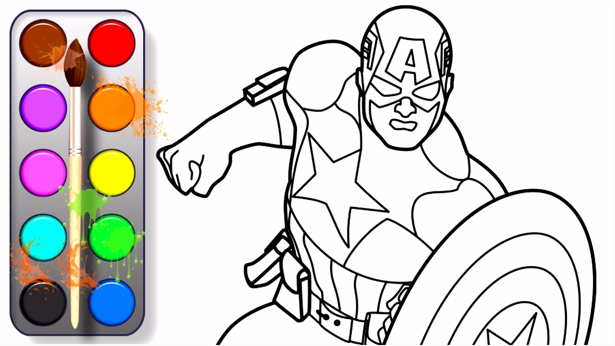 Captain America 3 Iron man 3 coloring page Laptop