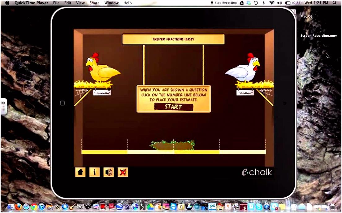 Chicken Coop Estimation Game Fractions App
