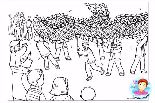 Chinees Nieuwjaar Kleurplaat ARCHIDEV