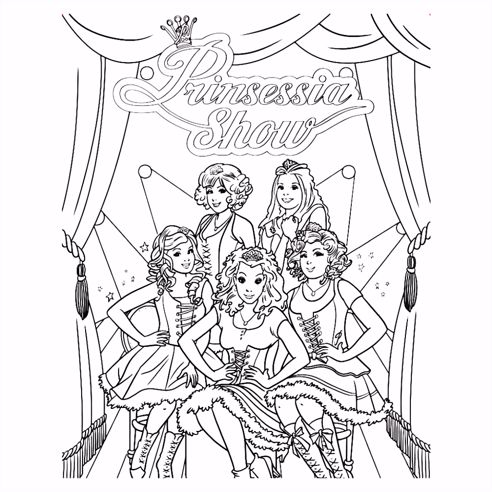 Prinsessen Kleurplaat line Inkleuren ARCHIDEV