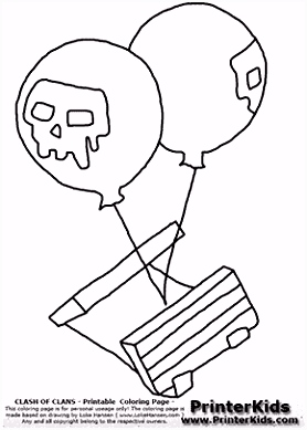 Clash Clans Air Bomb Coloring Page