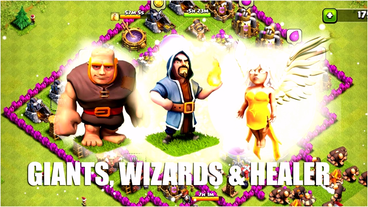 Clash of Clans Part 16 Giants Wizards Healer Rush