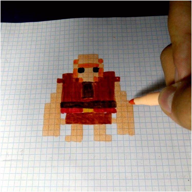 Gigante de Clash Royale y Clash of Clans Pixel Art