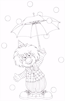 Kleurplaten circus CLOWNS COLORING PAGES