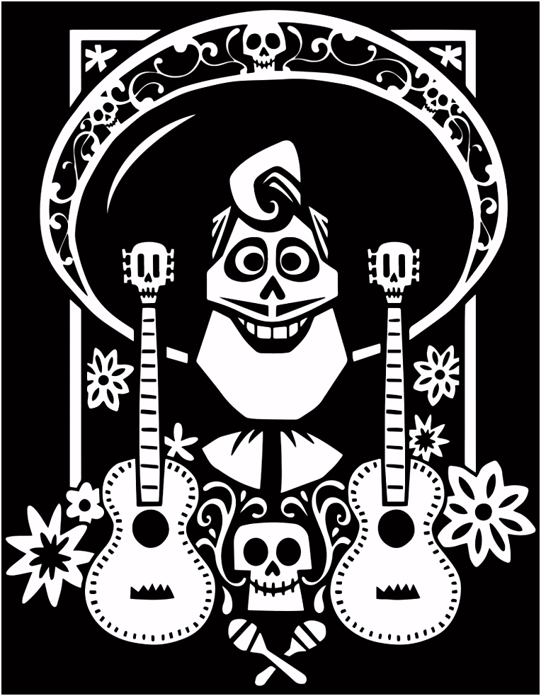 Coco Coloring Pages Disney Coloring Pages Pinterest