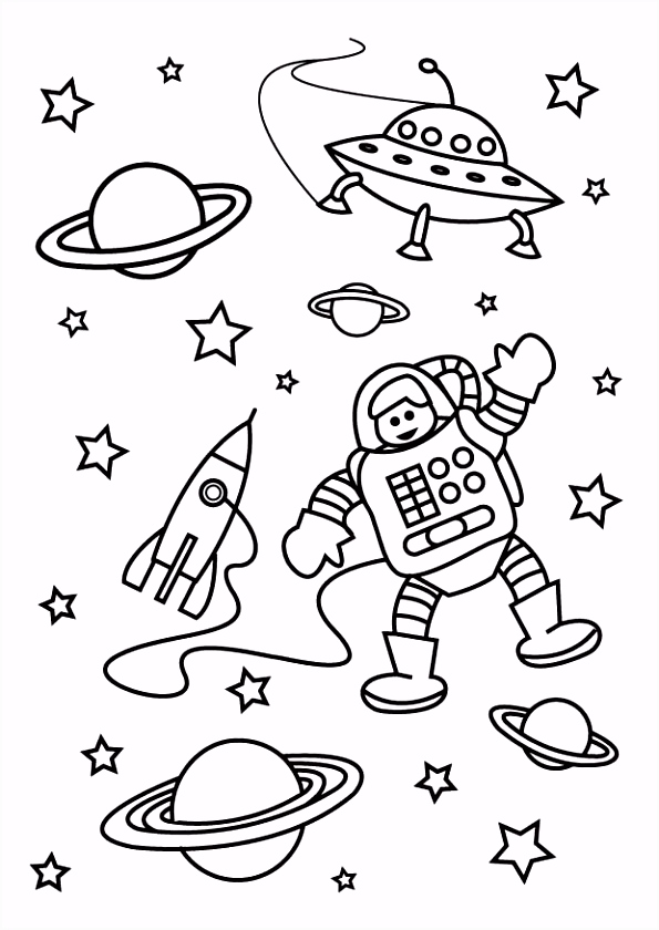 Kleurplaat De Ruimte Afb Coloring Pages for Kids