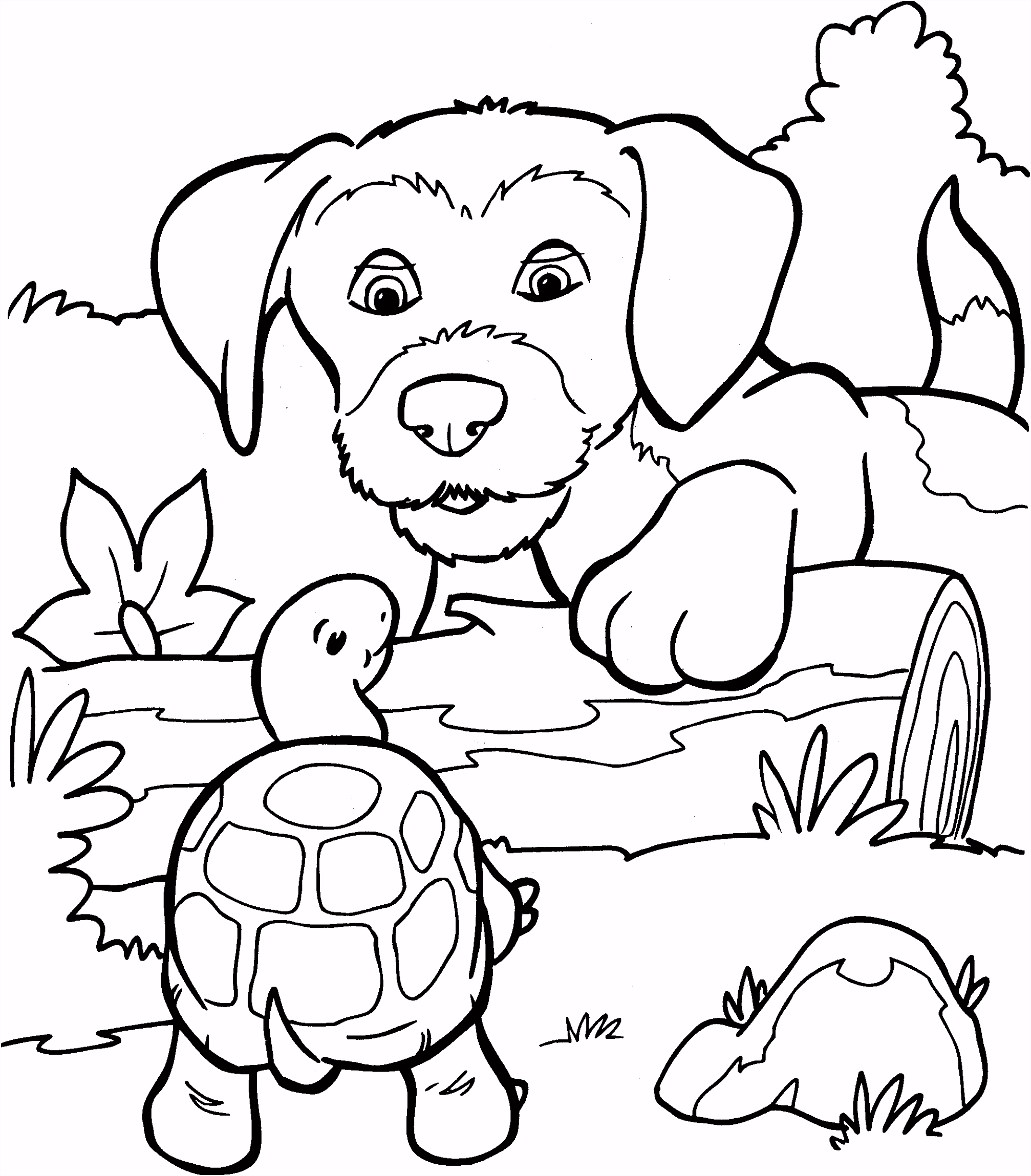 Kleurplaten Dieren Puppies ARCHIDEV