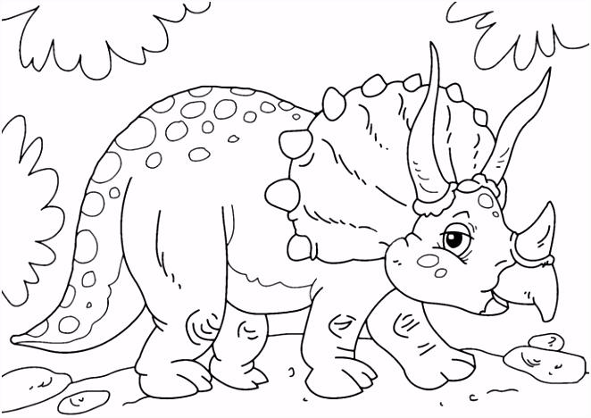 5 Kleurplaat Dinosaurus