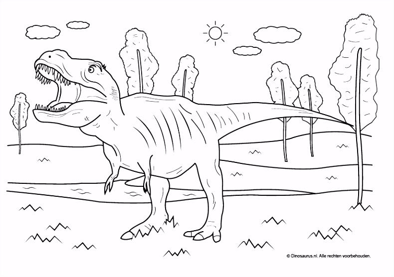 Dinosaurus kleurplaten Dinosaurus