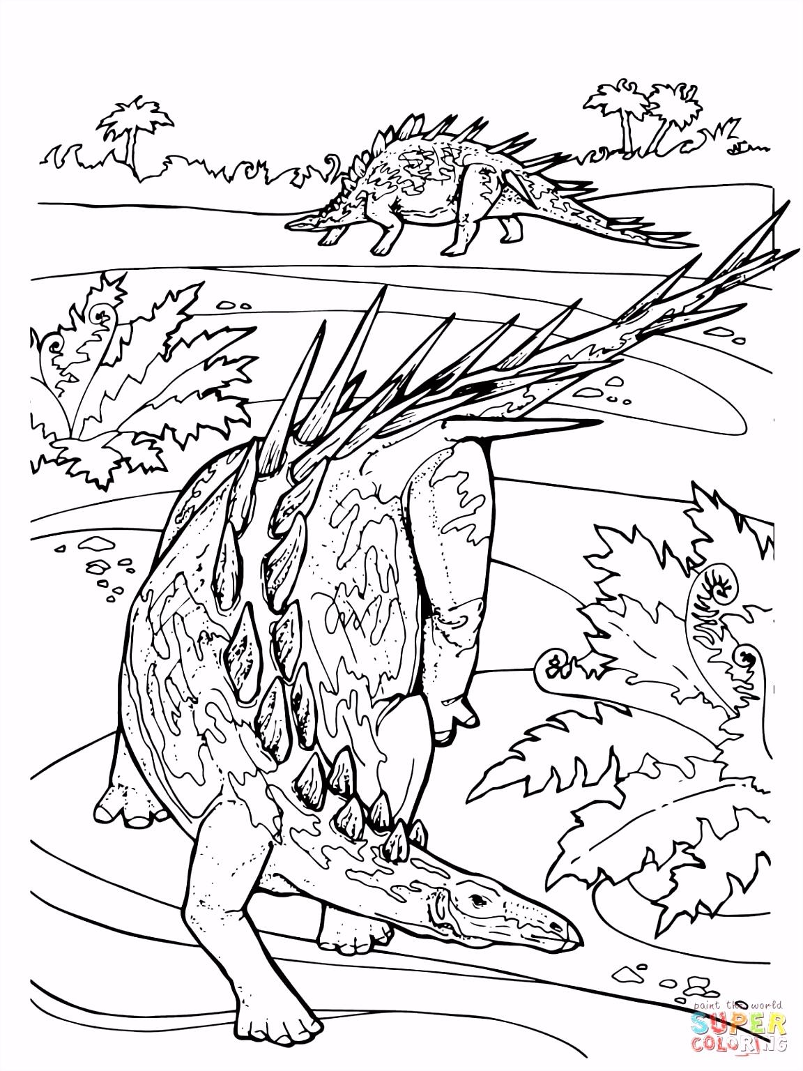 Geweldige Kleurplaten Hard Geweldige Dinosaurus Kleurplaat Printen