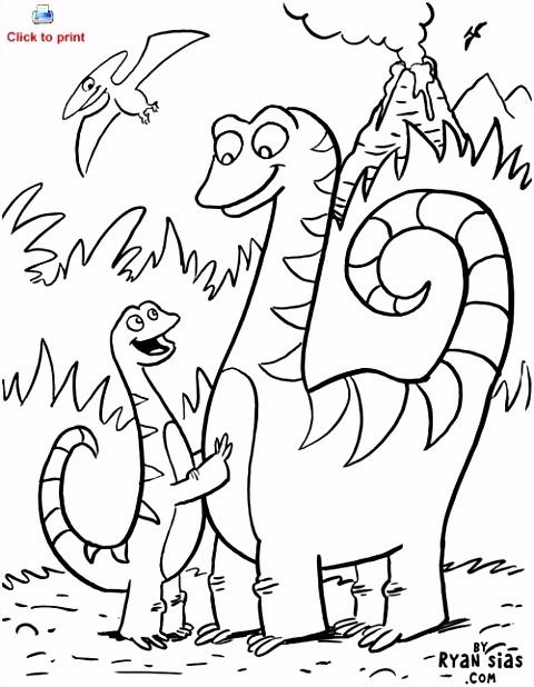 Kleurplaat Dinosaurus Met Taart ARCHIDEV