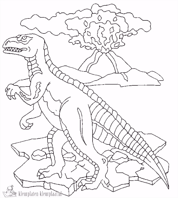 Kleurplaten Dino ARCHIDEV