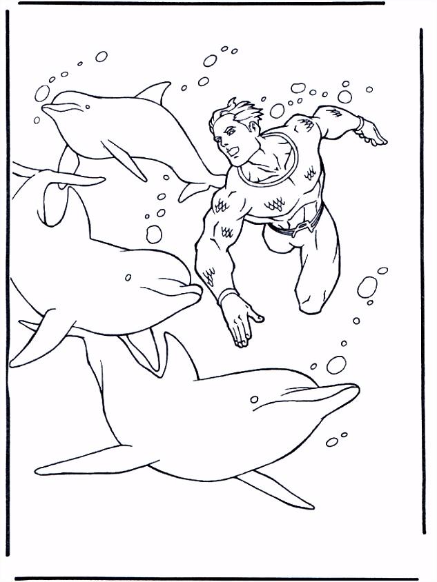 Dolfijnen kleurplaten Dolfijnen en water ren