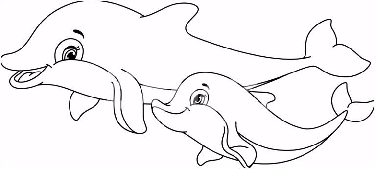 Dolfijnen Kleurplaten Pagina Stock Vector Free