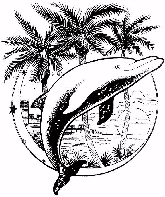 Kleurplaat Kleurplaat dolfijn 2278