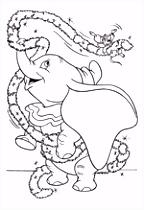 We4you2 Kleurplaten van Dombo het vliegende olifantje Disney Pixar