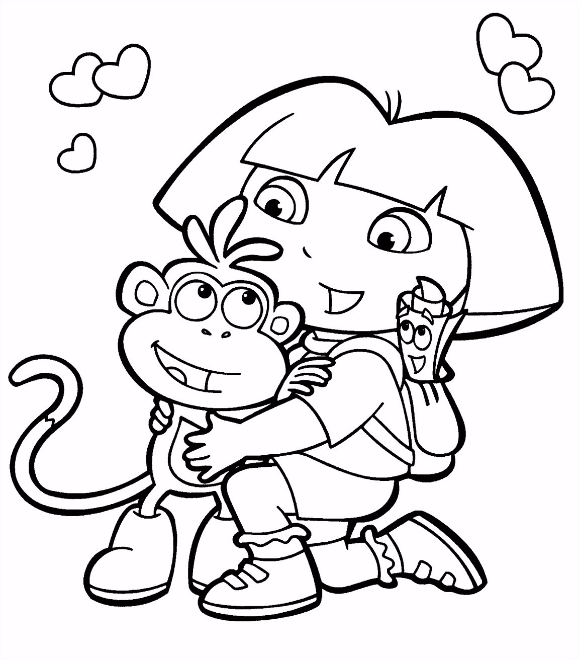 Dora And Boots Coloring Pages Dora Coloring Lots of Dora