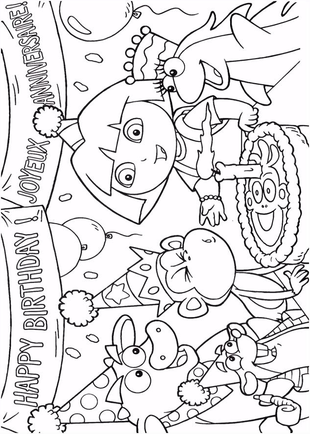 Dora Kleurplaat Verjaardag ARCHIDEV