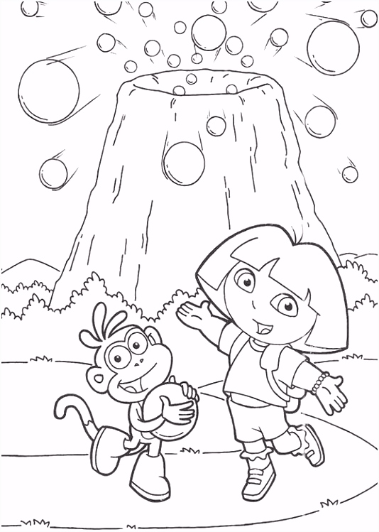 Kleurplaten Doras Alfabet Dora and Boots are Near Mount Coloring Pages Dora the Explorer D3cb54qvl8 P4ztm4nrfu