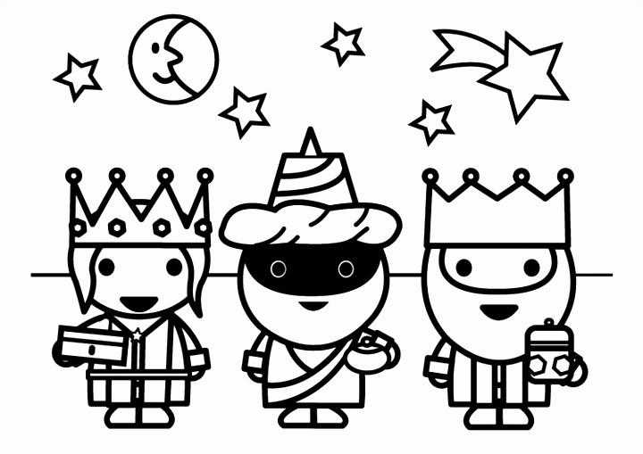 Kleurplaat 3 Koningen Afb
