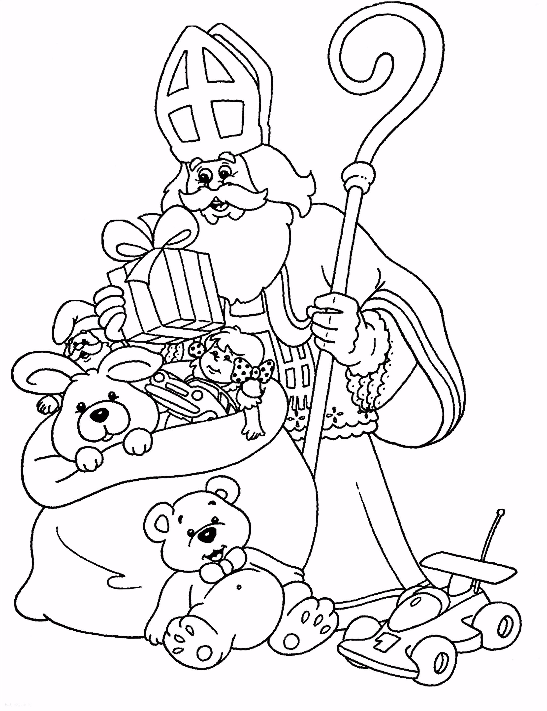 St Nicholas Coloring Sinterklaas Kleurplaten