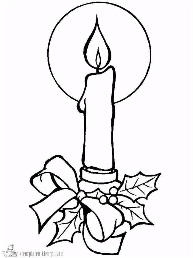 Kaarsen Kleurplaat ARCHIDEV