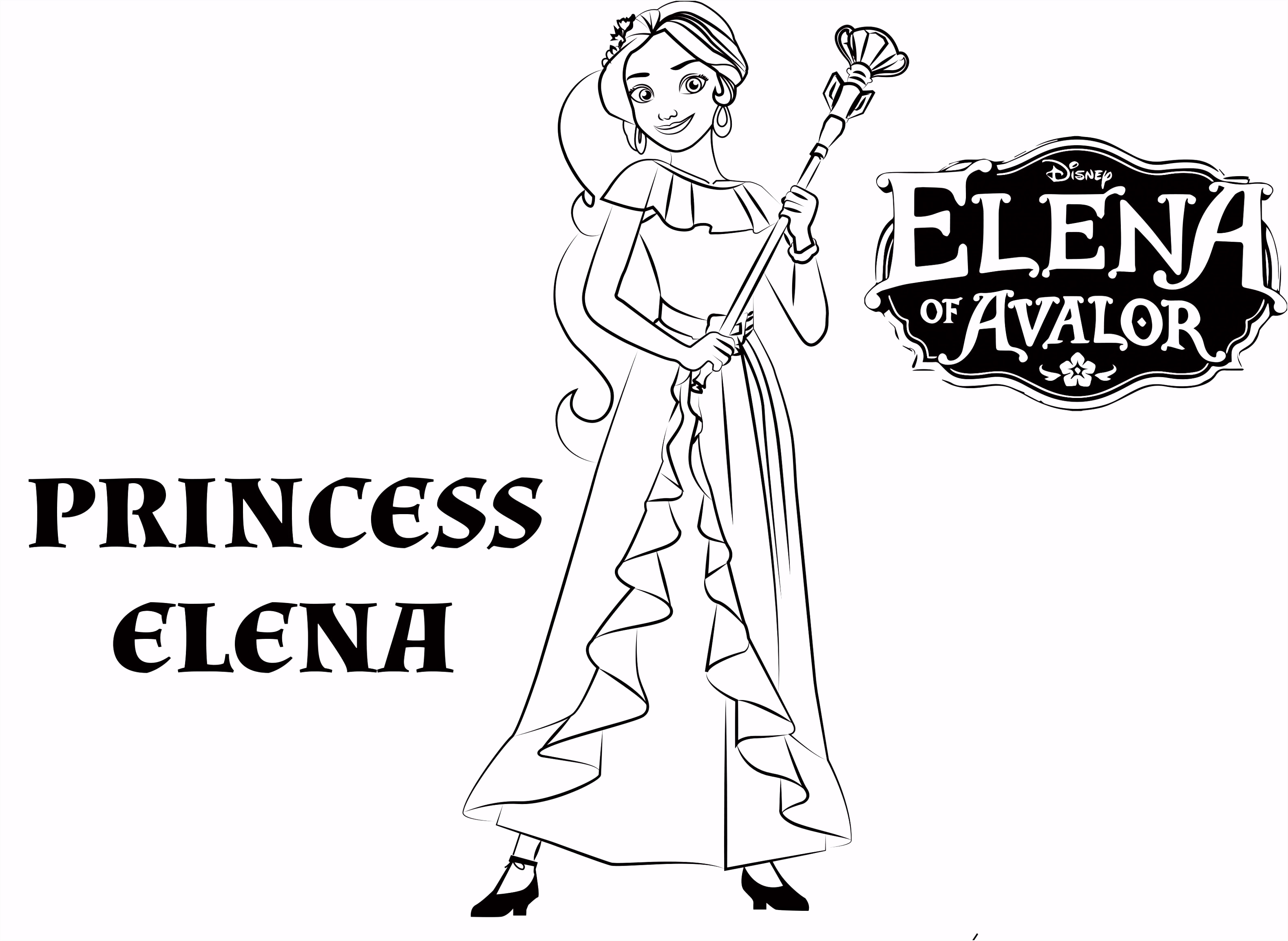 Disney s Elena of Avalor Coloring Pages Sheet Free Disney Printable