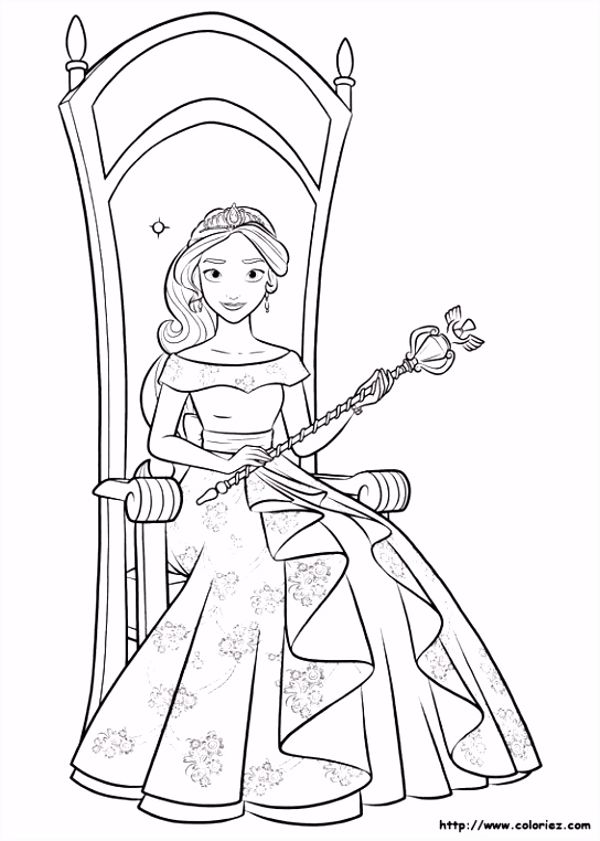 Princess Elena of Avalor colouring page