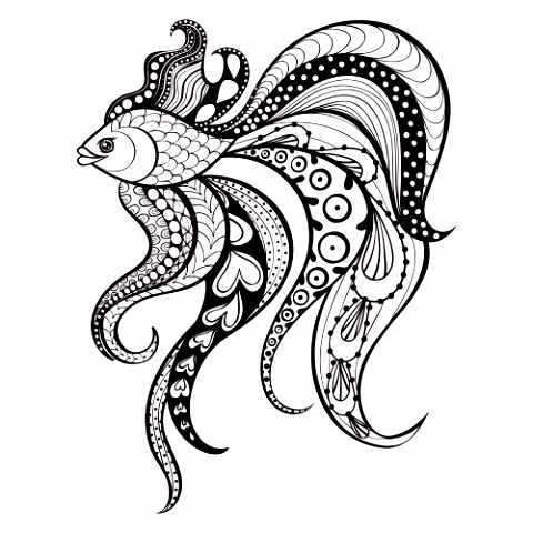 Fantasy Fish Coloring Page