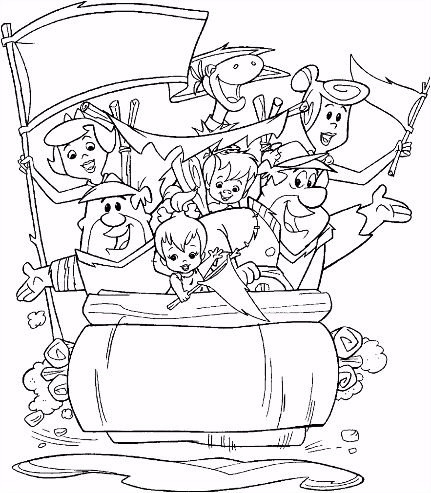 the flintstones coloring pages Coloring Pages